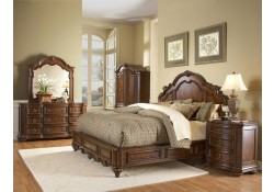 1390LP Prenzo Bedroom Set in Brown Finish by Homelegance