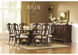 Perry Hall Collection Pedestal 7 Piece Dining Set 1405-72
