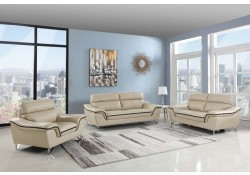 168 Living Room Set in Beige Color