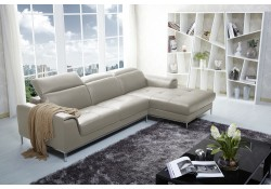 1727 Modern Beige Leather Sectional