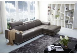 1727 Modern Brown Leather Sectional