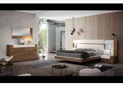 Mar Bedroom Set in Two Tone Finish Made in Spain