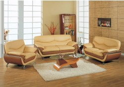 2106 Living Room Set in Two Tone Leather by Global