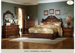 2106 Cromwell Cherry Solid Wood Traditional Bedroom Set