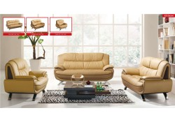 ESF 405 Modern Living Room Set in Beige Leather