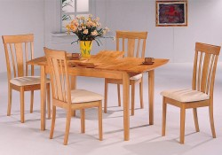 Davie Maple Finish Wood Dining Room Set
