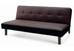 Dark Brown Modern Click Clack Sofa Bed Sleeper 11