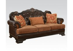 Le Havre Classic Living Room Set in Brown Leather
