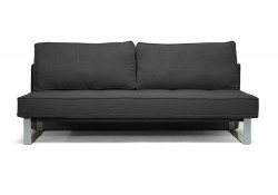 582 Contemporary Sofa Bed in Charcoal Linen