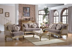 606 French Provincial Living Room Set in Gold