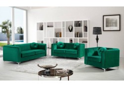 Isabelle 612 Classic Living Room Set in Green Fabric