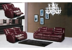 Dark Brown Living Room Set 644BR Meridian Furniture