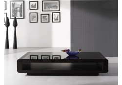 Solid Wood Modern Dark Oak Finish Coffee Table 673