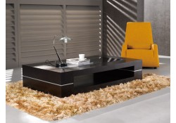 682D Modern Wenge Finish Wood Large Coffee Table