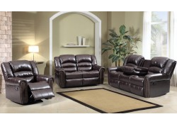 Black Reclining Sofa Set 684 Meridian Furniture