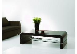 Dark Oak Finish Modern Coffee Table 690