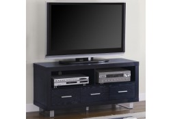700644 Contemporary Compact Rich Black Finish TV Stand