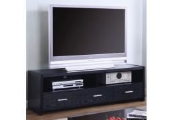 700645 Contemporary Style Long Black Finish TV Stand