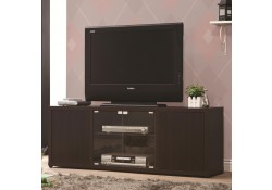 700886 Dark Brown Wood Large Contemporary TV Stand