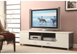 700910 Large Drawers Long Cream Contemporary TV Stand