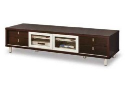 722 Contemporary Walnut Large TV Entertainment Stand
