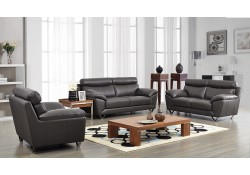 ESF 8049 Modern Living Room Set in Grey Leather