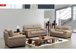 8052 ESF Modern Living Room Set in Camel Leather