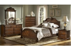 866NC Legacy Bedroom Set in Cherry Finish by Homelegance