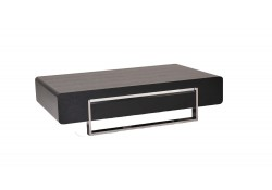 902A Dark Oak Wood Modern Coffee Table with Drawer