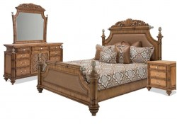 AICO Excursions Panel Bedroom Set in Caramel Cashmere