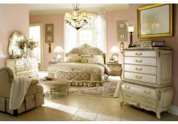 AICO Furniture Lavelle Bedroom Set in Blanc