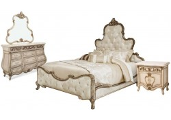 AICO Platine De Royale Bedroom Set in Antique Platinum