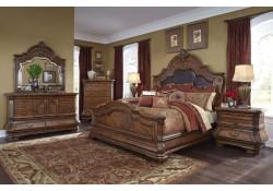 AICO Tuscano Melange Bedroom Set in Melange
