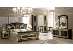 Aida Bedroom Set in Black and Gold Finish by Camelgroup