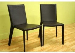 Semele Chocolate Brown Contemporary Dining Chairs - Set of 2