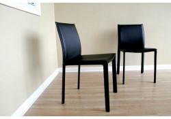 Burridge Contemporary Black Leather Dining Chair