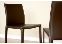 Burridge Contemporary Brown Leather Dining Chair