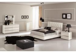 Alf Group Stella White Lacquer Italian Bedroom Set