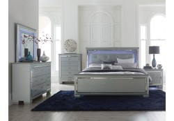 1916 Allura White Bedroom Set with LED Lights