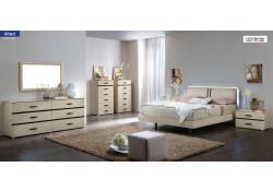 Altea Bedroom Set in Modern Italian Beige Finish