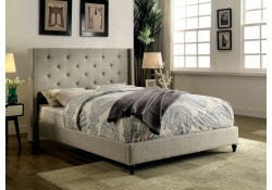Anabelle Platform Bed Set in Gray Fabric