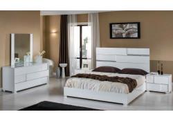 Modrest Ancona Italian Bedroom Set in White Lacquer Finish