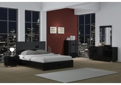 Aria Dark Brown Finish Bedroom Set with Storage Bed