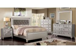 Avior Bedroom Set in Silver Finish