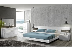 Armora White Lacquer Modern Bedroom Set