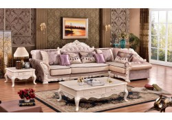 Arturo 696 Sectional Sofa Traditional Pearl Finish