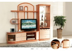 AV3067 Modern Light Two Tone High Gloss Finish Wall Unit