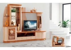 AV3069 Modern Light Two Tone High Gloss Finish Entertainment Center