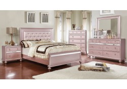 Avior Bedroom Set in Rose Pink