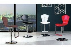 Red, Black, Cream, Brown Leather Bar Stools B8008